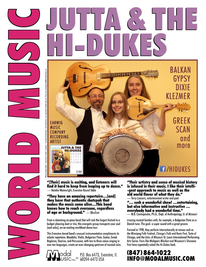Image of Jutta & the Hi-Dukes One Sheet Brochure. Click to download PDF file.