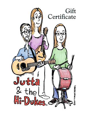 Image of Jutta & the Hi-Dukes (tm&#41 Gift Certificate Card.