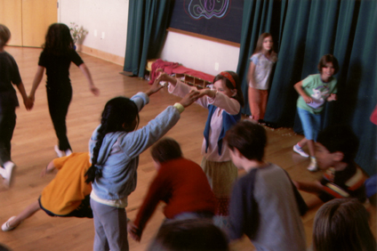 Photo of dancers at Santa Fe Waldorf School in New Mexico